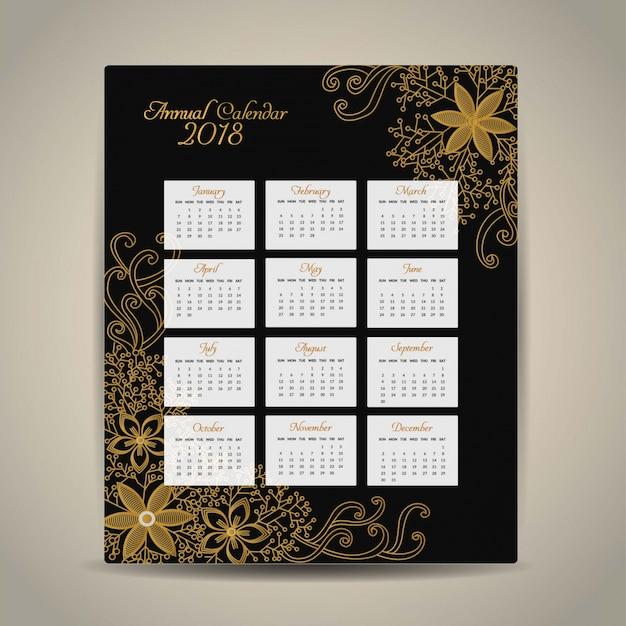 2018カレンダーゴールデンデザイン
