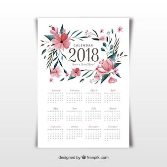 2018 calendar template