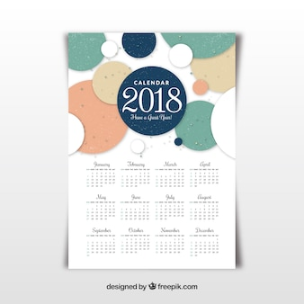 Modello di calendario 2018