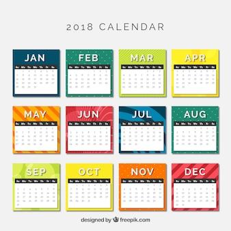 2018 calendar Free Vector