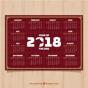 2018 chinese new year calendar