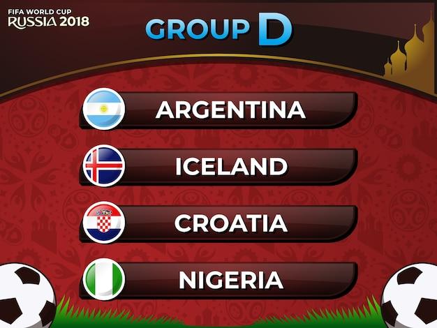 ロシア2018 fifaワールドカップグループd国サッカーチーム