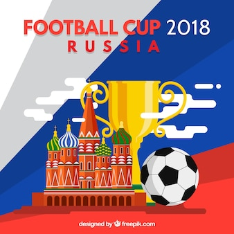 2018 football cup design with trophy