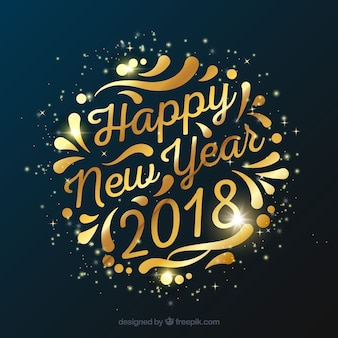 2018 new year party background