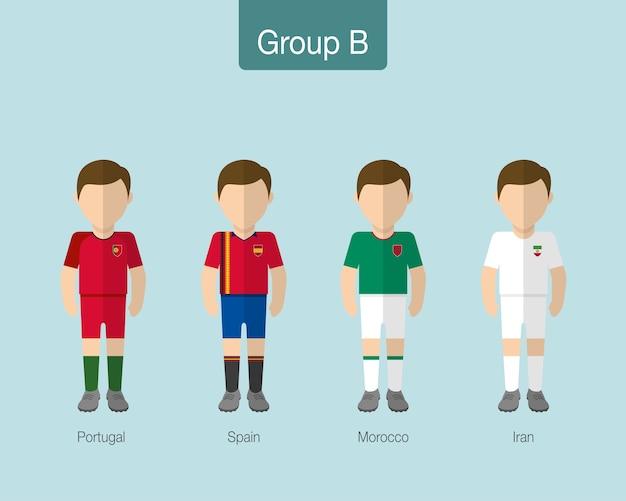 2018 soccer or football team uniform.