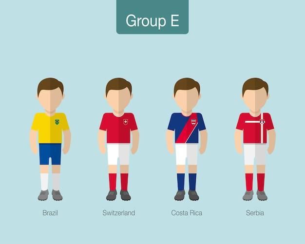 2018 축구 또는 축구 팀 유니폼.