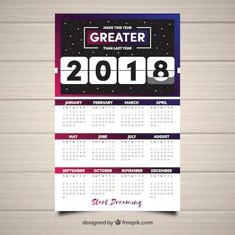 2018 space calendar