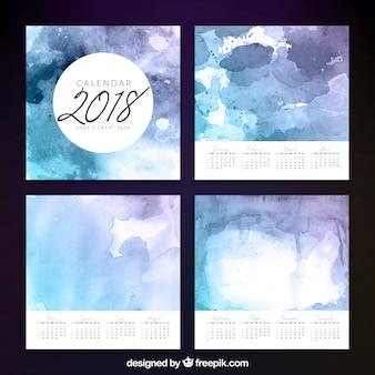 2018 watercolor artistic calendar