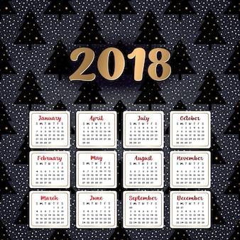 2018 календарь. его можно использовать для web или для печати.