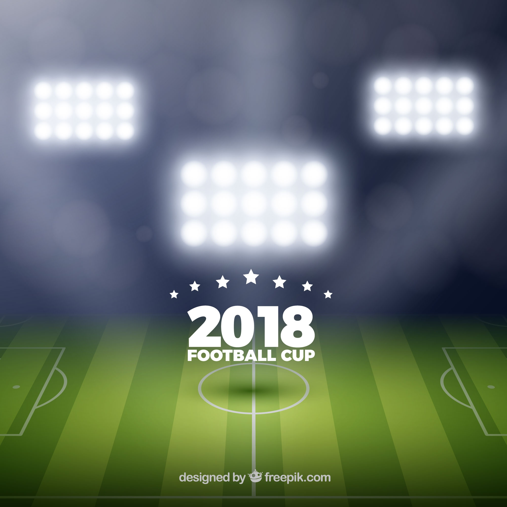 2018 world football cup background in realistic style