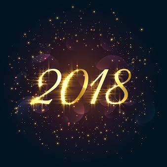 美しい2018輝く新年の背景