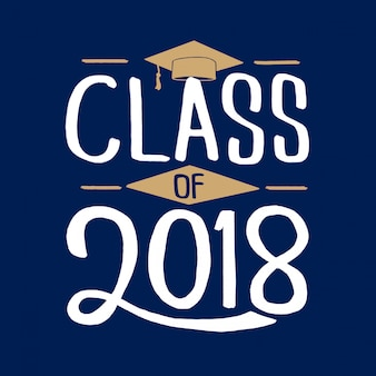 2018年グリーティングカードセットの卒業クラス