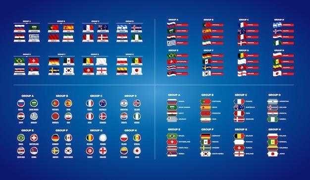 サッカーワールドチャンピオンシップ2018グループ