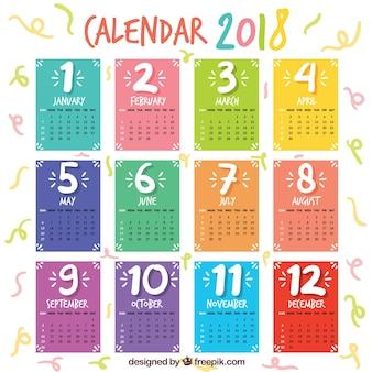 美しい2018カレンダー