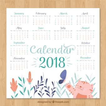 Красивый календарь 2018