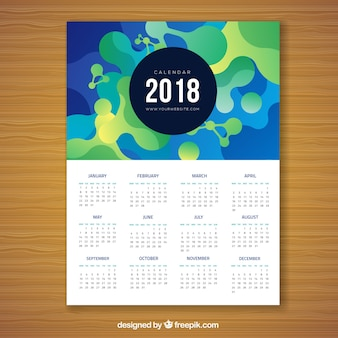 2018抽象カレンダー