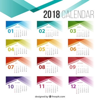2018カレンダーテンプレート