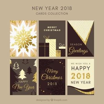 Сбор нового года 2018 в шоколадных тонах
