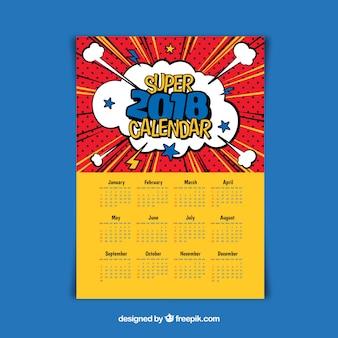 Шаблон календаря 2018