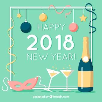 2018年新年の背景