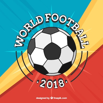 2018 футбольный мяч фон в плоском стиле