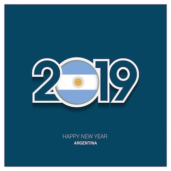2019 argentina typography, happy new year background