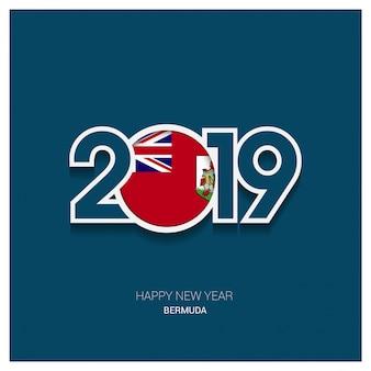 2019 bermuda typography, happy new year background