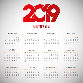 Calendar 2019 Vectors Photos And Psd Files Free Download