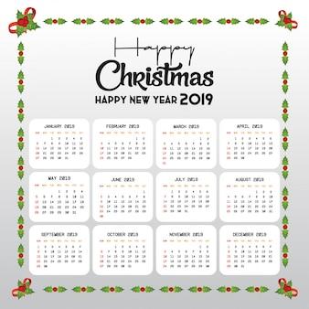 2019 calendar template