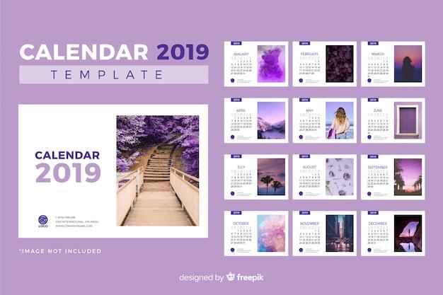 2019 шаблон календаря