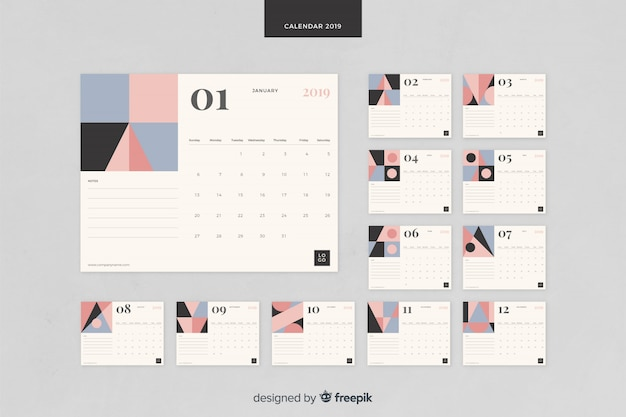 2019 calendar Vector | Free Download