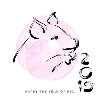 2019 chinese new year with pig