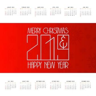 2019 christmas calendar design vector
