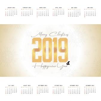 2019 christmas calendar design