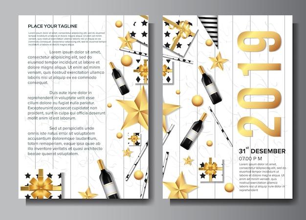 2019 flyer business brochure design background template