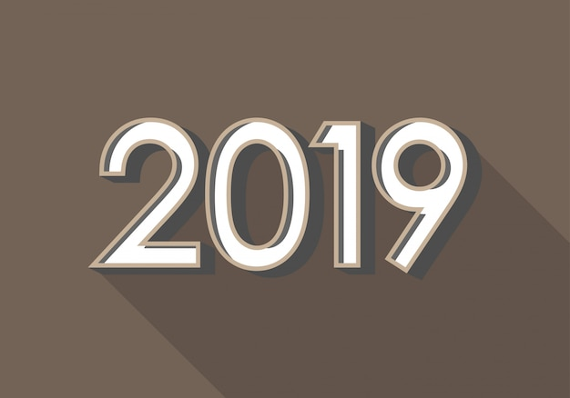 2019 happy new year background for calendar cover and greetings card.