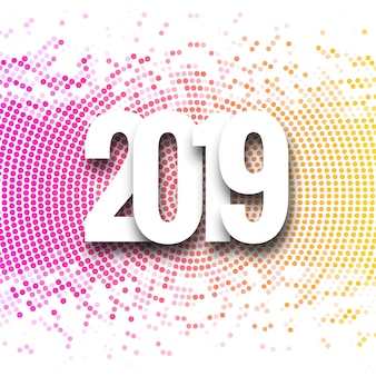 2019 happy new year background creative design vector