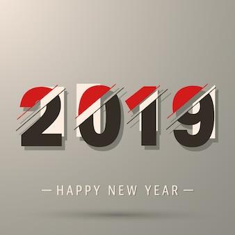 2019幸せな新年のモダンなデザイン