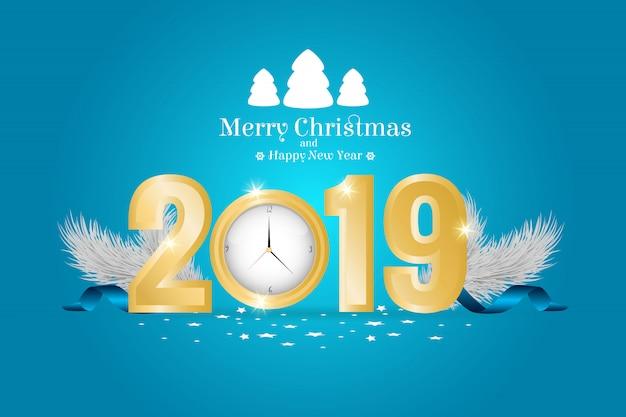 2019 счастливого рождества и счастливого нового года