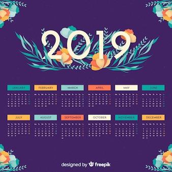 2019 Month Calendar