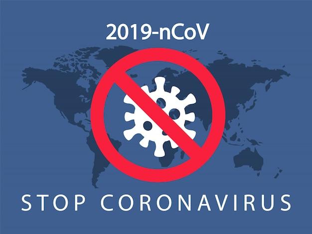 コロナウイルス2019-ncov。コロナウイルス感染を停止します。ウイルスの世界的な配布。