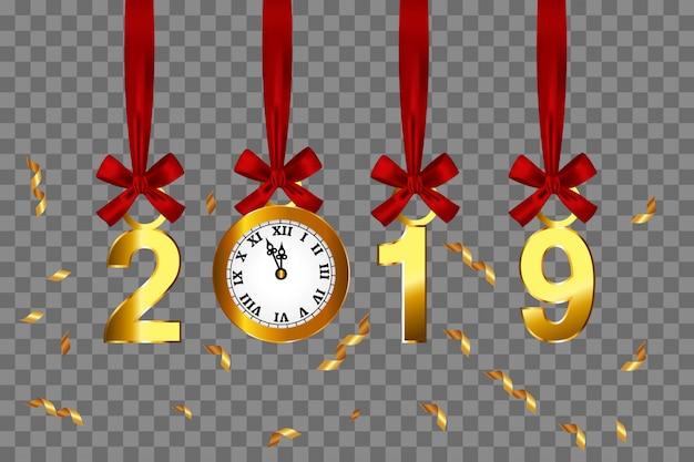 2019新年の背景ベクトル。