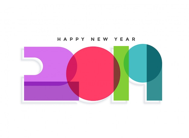 2019 new year creative color background