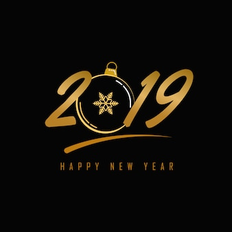2019 new year greeting and card vector background