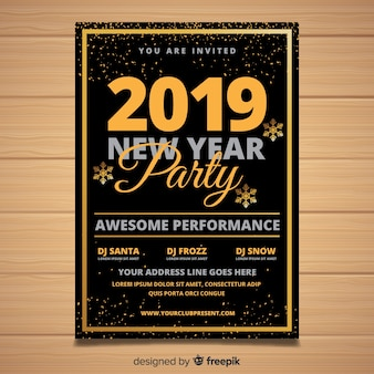 2019 new year party banner