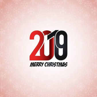 2019 new year typographic design vector