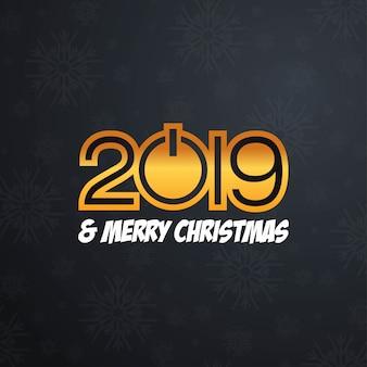 2019 new year typographic design vector