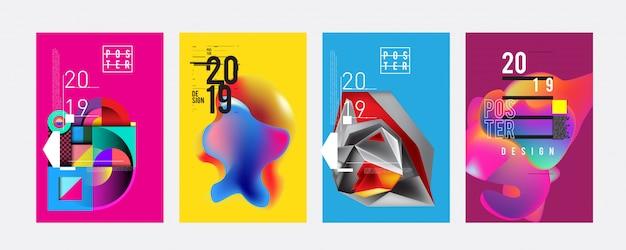 Шаблон дизайна плаката 2019
