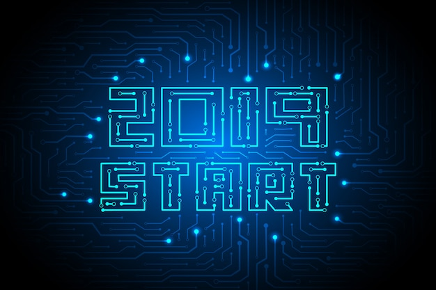 2019 start on circuit technology background design.