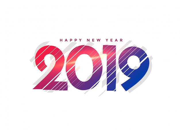 Новый год 2019 креативная надпись